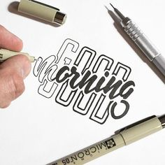 There is something soothing about black lines drawn with a micron. Type by /andry/.yorke | #typegang - http://typegang.com | http://typegang.com #typegang #typography
