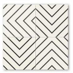 Great patterns for a modern bathroom in a cement tile.