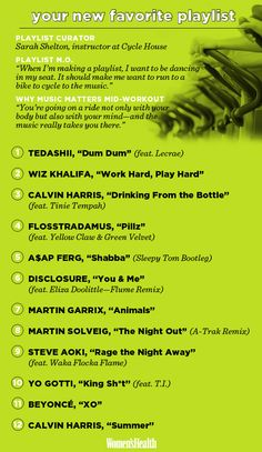 This 50-minute cardio playlist from Cycle House will get you pumped up to sweat. #Muzikool