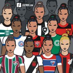 #FutebolFeminino #Futbox #futebol #historia #design Posts, Comics, Design, Girl Soccer, Wall, Messages, Comic Book, Comic Books, Design Comics
