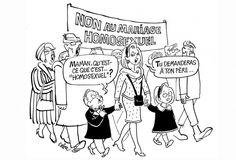 Le dessinateur Jean Cabut, plus connu sous le nom de Cabu, fait partie des victimes de l'attentat qui a visé les locaux de Charlie Hebdo mercredi 7 janvier 2014. Retour sur quelques-uns de ses dessins, extraits de son livre «Dessins cruels», que nous publions avec l'accord des éditions du Cherche...