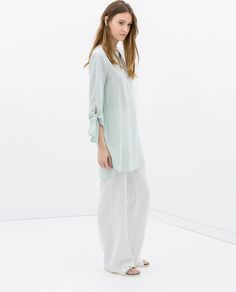 Image 1 of TIE-SLEEVE TUNIC from Zara