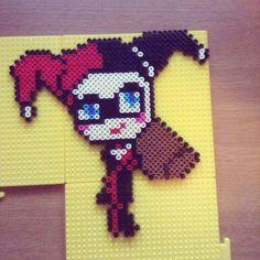 Harley Quinn perler beads by enderkate4