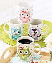 Set of 4 Owl Mugs @bridgette77