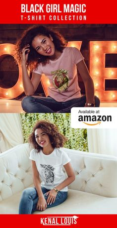 Online shopping from a great selection at Clothing, Shoes & Jewelry Store. Creative T Shirt Design, Tee Design, Black Girl Art, Black Girl Magic, Afrocentric Clothing, Culture T Shirt, Cool Graphic Tees, Black Artwork, Magic Art