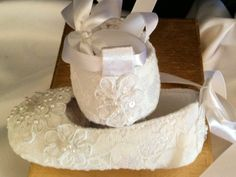 Baby All Lace Shoe First Walkers Christening by LaBoutiqueBride, $35.00