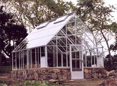 Cape Cod Glass Greenhouses.12' W x 16' L,white