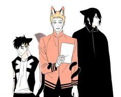 Naruto Y Sasuke, Naruto Boys, Naruto Family, Naruto Anime, Naruto Comic, Boruto Naruto Next Generations, Naruto Shippuden Anime, Haikyuu Anime, Otaku Anime