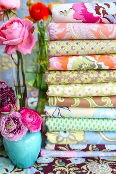 """Amy Butler's Gypsy Caravan Fabrics - She is the master of color. We cannot wait to hear her advice on """"Creating Your Own Color Story"""" at The Makerie!"""