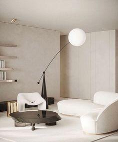 Interior Architecture, Interior And Exterior, Living Room Designs, Living Room Decor, Stucco Walls, Interior Decorating, Interior Design, Minimalist Home, Apartment Design