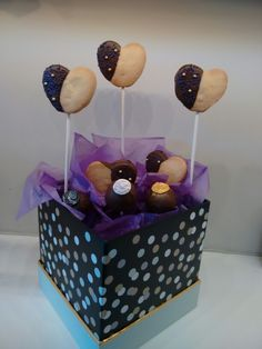 Cookie & cake pop bouquet for any occasion from The Mix Bake Shop.