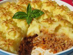 Pastel de carne y patata cocina tradicional