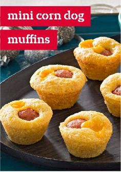 Mini Corn Dog Muffins – Serve this mini-muffin appetizer recipe with warm mustard. Your guests will love this dish!