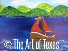 Sail Away painting | The Art of Texas Kids | Midland, Texas