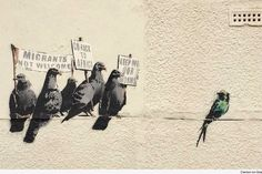 Street Artist Banksy Unveils Two New Pieces in the United Kingdom