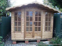 Garden Sheds Ripley deluxe apex 9x6 with door & windows under eaves   ripley nurseries