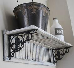 Rustic Country Bathroom Shelves Ideas 27