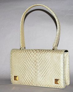 Authentic Gianni Versace Vintage Python Embossed by PurseAngels, $498.00