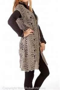 long crochet vest pattern