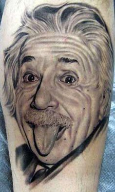Einstein:  One of my favorite images of him.  Really impressive ink!  I mean, look at the work on his tongue.  Amazing texture and light.