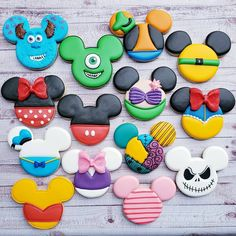 Mike, Sully, Donald, Daisy, Ariel, Pooh, Piglet, Goofy, Pluto, Ariel, Jack, Minnie & Mickey Ears Cookies