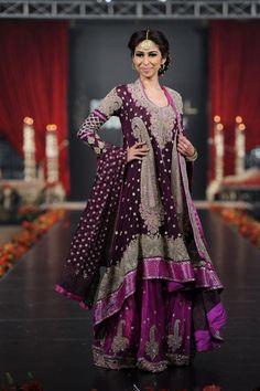 Pakistani Bridal Wear Sharara For Walima Reception