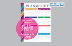 Planner Printables College Plan of Study PDF by OrganizedLifestyle
