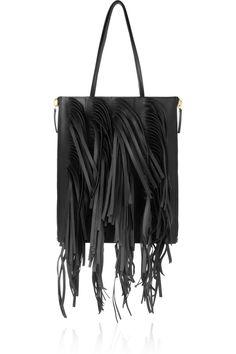 Marni|Fringed leather tote|NET-A-PORTER.COM