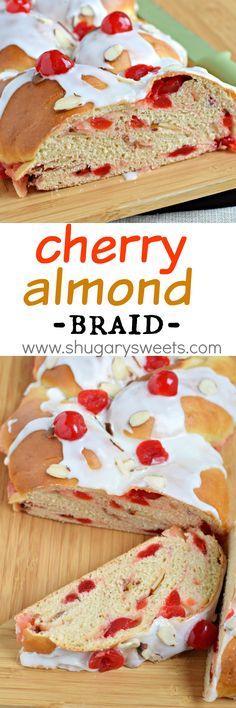 Adding this sweet Cherry Almond Braid recipe to your breakfast menu this season is a must!! Made with Fleischmann's Yeast! #sponsored