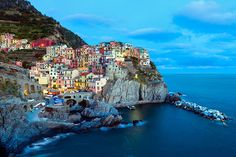 The most colorful cities in the world.  Cinque Terre, Italy