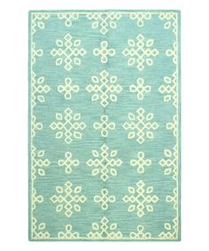 Look what I found on #zulily! Teal Blossoms Rahni Wool Rug #zulilyfinds