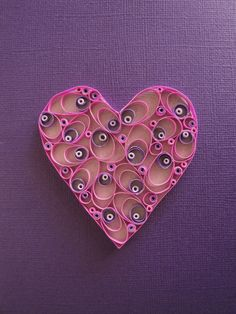 Quilled Paper Heart Shades of Purple Heart by ThePaperyCraftery