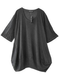 Barbara Speer Lagenlook Baumwoll Kleid Tunika Long Shirt XL Mode bei www.modeolymp.lafeo.de