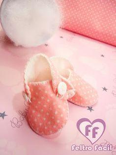 Como fazer sapatinho de bebê; sapatinho de bebê, shoes baby, artesanato em feltro, passo a passo