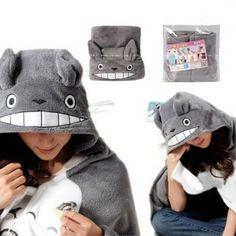 NEW My Neighbor Totoro Cloak Fleece Blanket Hoodie Sweater Throw Pullover Hoodie, Sweater Hoodie, Kigurumi Totoro, Totoro Merchandise, My Neighbor Totoro, Hooded Blanket, Cloak, Winter Hats, Plush