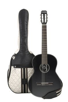 CHANEL acoustic guitar in black