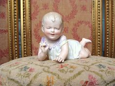 Nice antique german bisque Piano Baby. from les-fees-du-temps on Ruby Lane