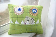 So cute! #monster #tooth #pillow
