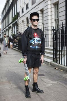 Skateboarding like boss