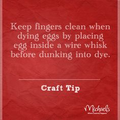 Mess-free egg dying tip