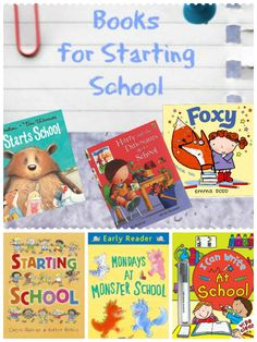 Books about Starting School. Great way to help kids feel ready for starting school Starting School, Beginning Of School, First Day Of School, School Days, School Stuff, U Book, Library Books, Read Books, Monster School