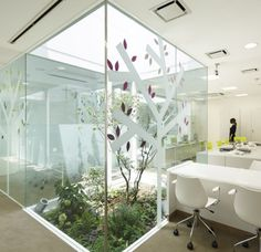 Comfortable Office With Outdoor Atmosphere by Moureaux Emmanuelle Architecture + Design
