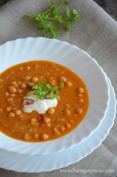 Rozgrzewająca zupa z ciecierzycy (cieciorki) I Love Food, Tofu, Diet Recipes, Smoothies, Food And Drink, Baking, Dinner, Ethnic Recipes, Fit