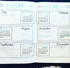 Future log ideas #bulletjournal #bujo