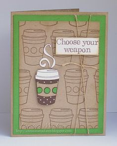 Use this idea to make a card using my Cricut instead of stamps