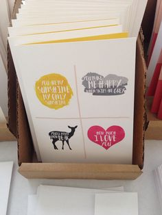You are my sunshine. Card by Haven Paperie stationery subscription service.