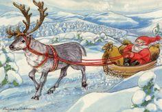Christmas Cards, Merry Christmas, Scandinavian Countries, Gnomes, Reindeer, Woodland, Moose Art, Santa, Artist