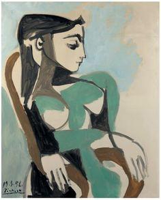 Pablo Picasso:  Portait of Jacqueline . (1956)