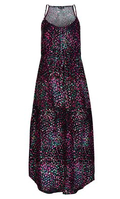 There's nothing nicer than slipping into a cool and comfortable maxi dress on a hot day. Featuring spaghetti straps, an elasticated waistband with drawstring closure, soft V neck line, floor length skirt and a fun print, the Nice & Cool Maxi Dress will be