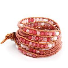 Chen Rai Woven Mixed Pink Quartz Wrap Bracelet Eve's Addiction http://www.amazon.com/dp/B00A44LCFY/ref=cm_sw_r_pi_dp_5LGItb0K2EBBWMV0